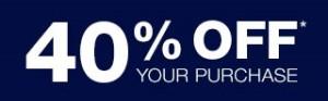 40% off Gap